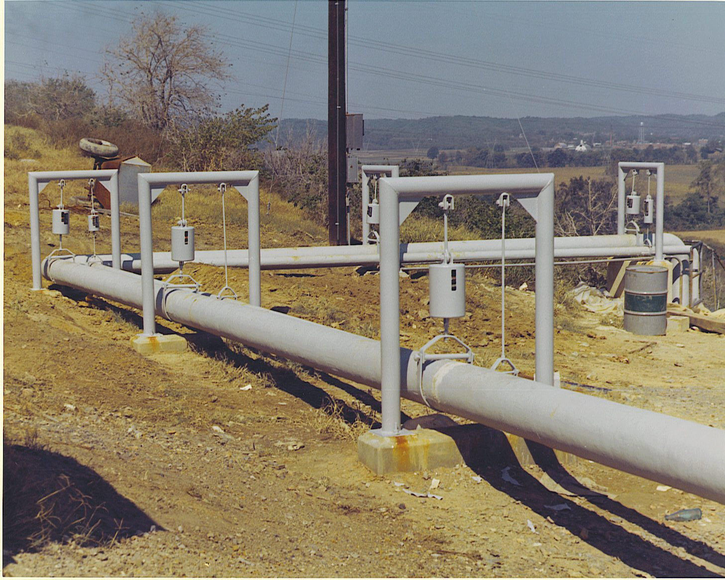Insulated pipes outside